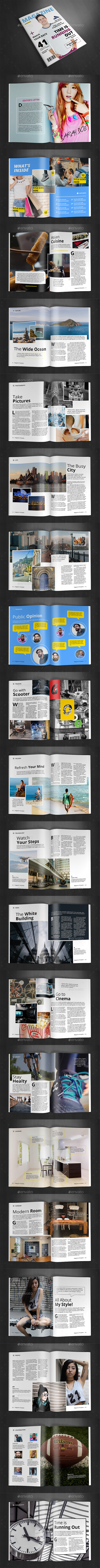A4 Magazine Template Vol.25 - Magazines Print Templates