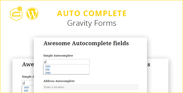 Gravity Forms Auto Complete (+address field) - CodeCanyon Item for Sale