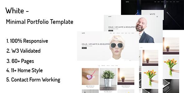 White – Minimal Portfolio Template - Portfolio Creative