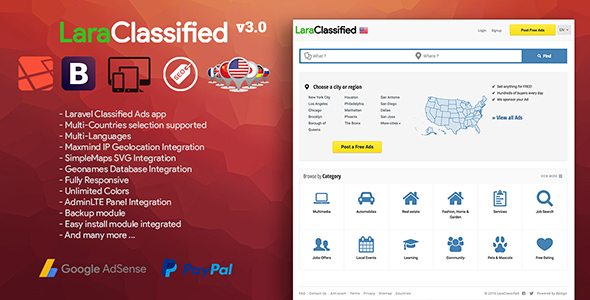 LaraClassified - Geo Classified Ads CMS - CodeCanyon Item for Sale
