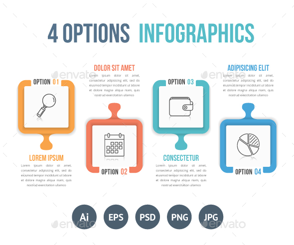 4 Options Infographics - Infographics