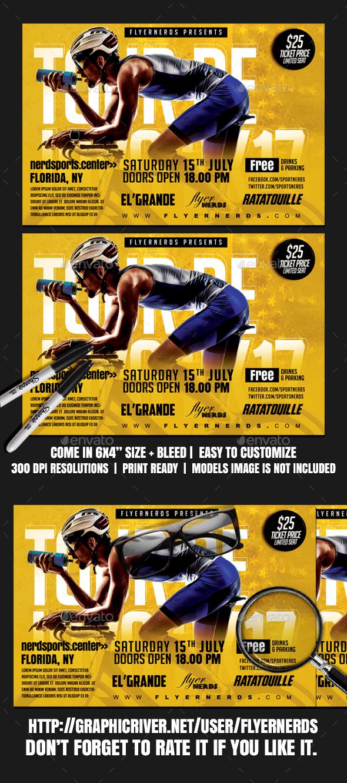 Tour De Java 2K17 Sports Flyer - Sports Events