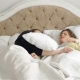 Young Asleep Parents Are Lying on the Bed. Cute Little Girl Is Throwing a Pillow in Father and - VideoHive Item for Sale