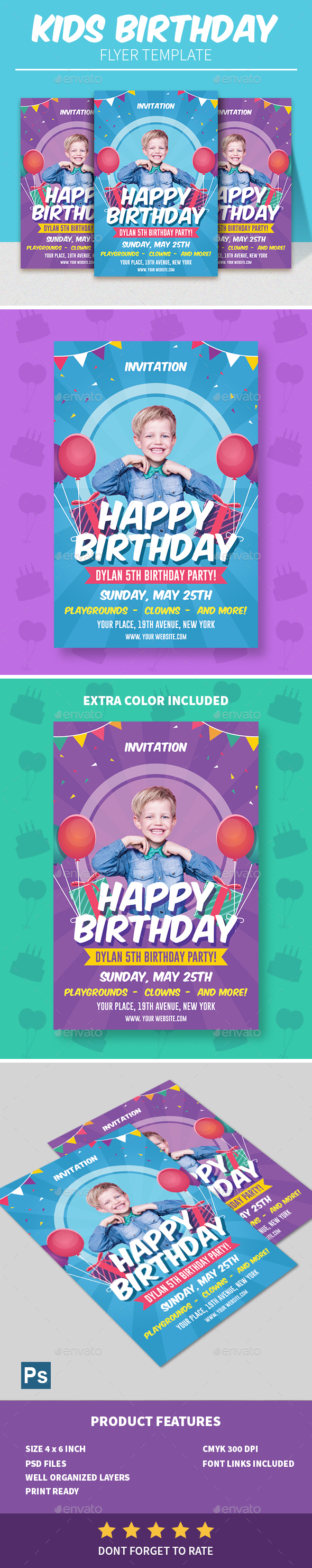 Birthday Kids Flyer - Clubs & Parties Events
