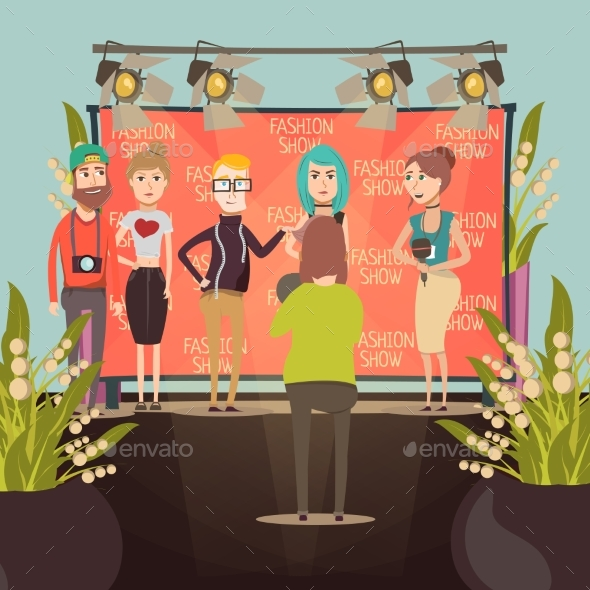 Fashion Show Interview Composition - People Characters