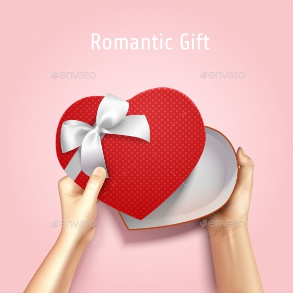 Romantic Gift Box Background - Seasons/Holidays Conceptual