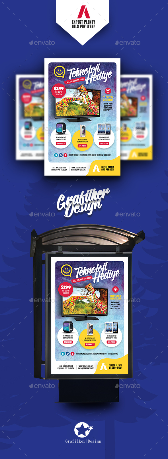 Technology Shop Poster Templates - Signage Print Templates