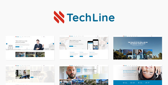 TechLine - Web services, businesses and startups modular template