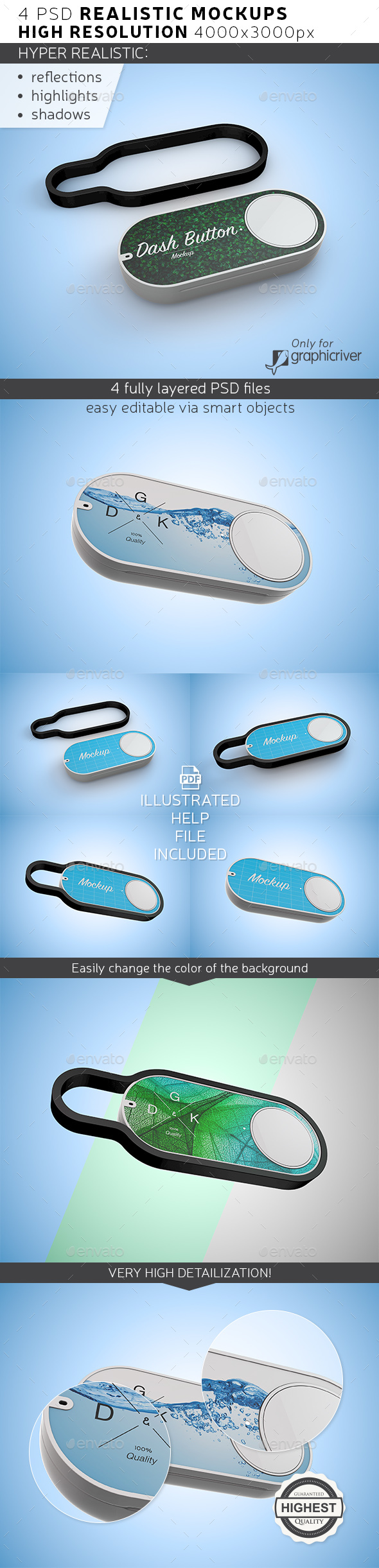 Dash Button Mockup - Product Mock-Ups Graphics