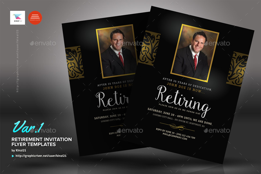 Retirement Invitation Flyer Templates By Kinzi  Graphicriver