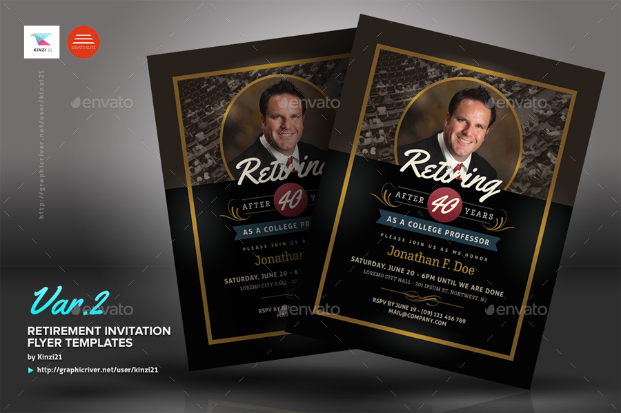 retirement invitation templates