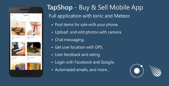 Buy & Sell Mobile App - Full Application with Meteor and Ionic. - CodeCanyon Item for Sale