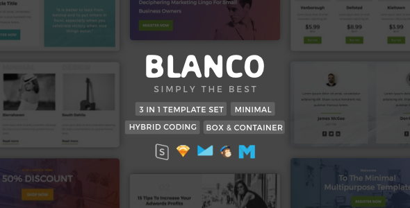 Blanco | Minimalist Template - Email Stationery Email Templates