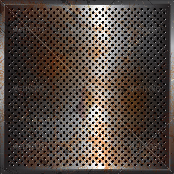 Rusty perforated metal - Miscellaneous Conceptual
