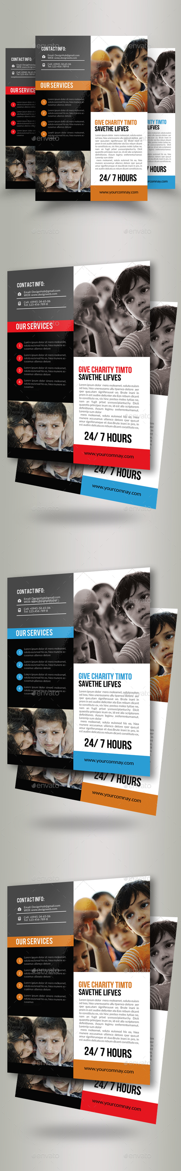 Charity & Donation Flyer Templates - Corporate Flyers