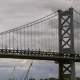 Clouds Against Ben Franklin Bridge, Philadelphia - VideoHive Item for Sale