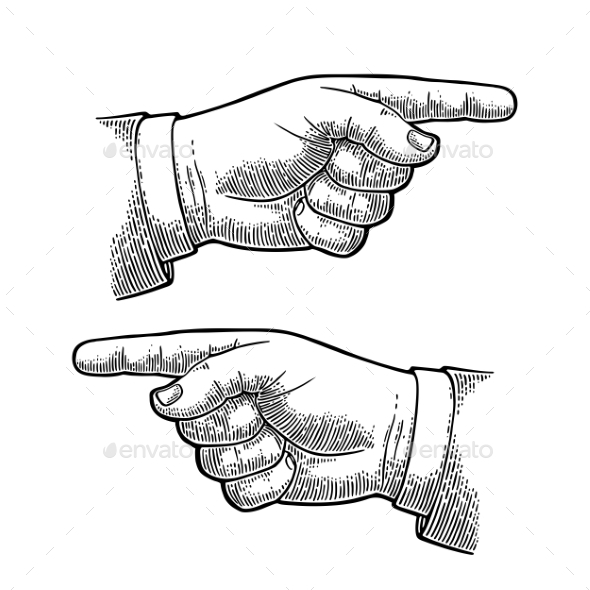 Pointing Finger - Miscellaneous Vectors