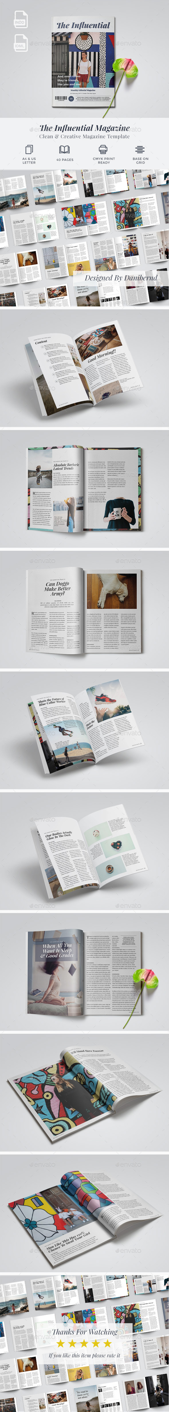 The Influential Magazine - Magazines Print Templates