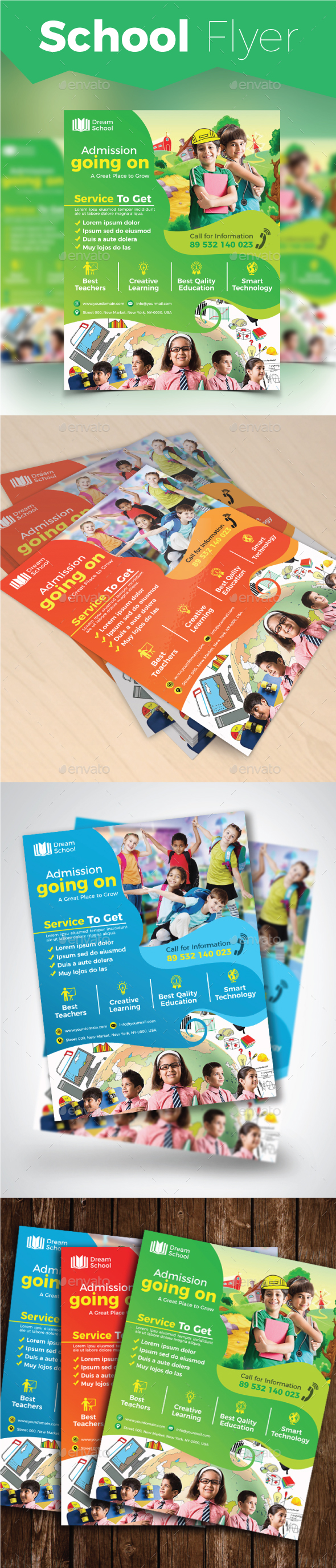 School Flyer - Flyers Print Templates
