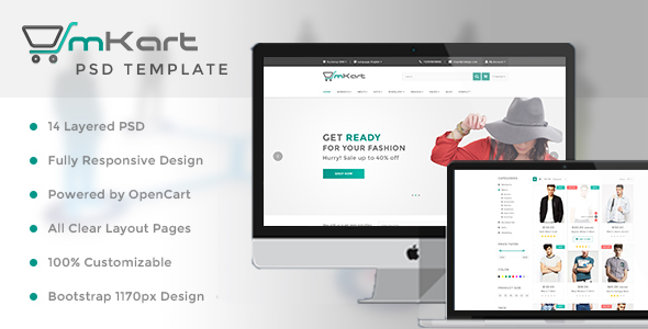 mKart – for OpenCart PSD Template