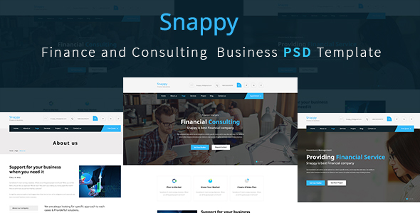 Finance and Consulting  Business Template - Corporate PSD Templates