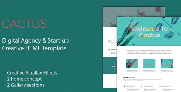 Cactus - Digital Agency & Start Up Creative HTML Template