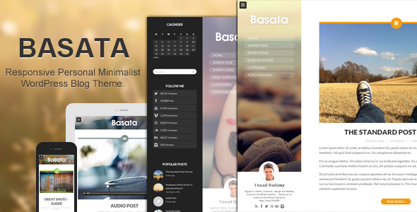 Basata - Retina Responsive WordPress Blog Theme