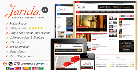 Jarida – Responsive WordPress News, Magazine, Blog