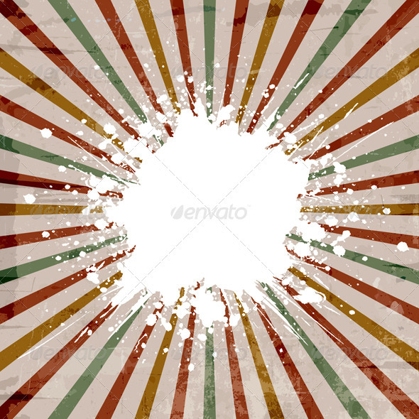 Grunge starburst background - Backgrounds Decorative
