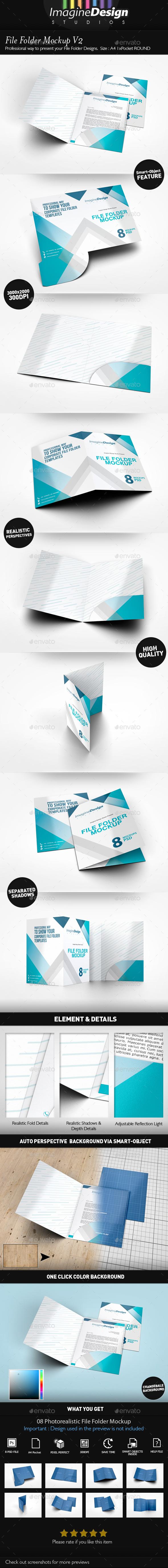 File Folder Mockup V2 - Stationery Print