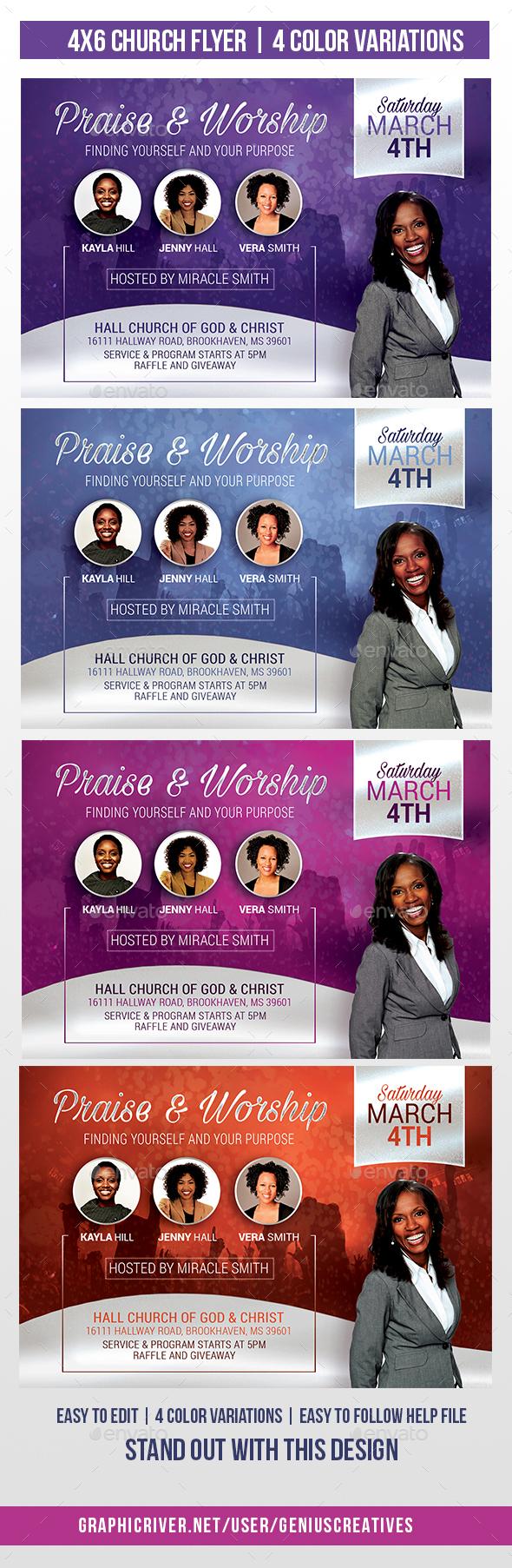 Praise Church Flyer - Church Flyers
