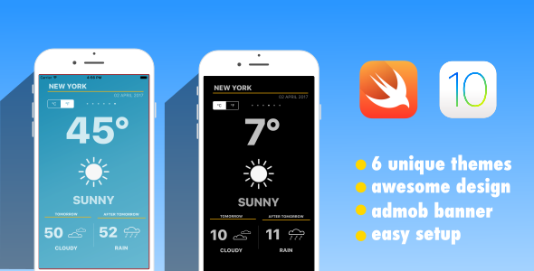 Weather App | Swift 3 | iOS 10 | AdMob - CodeCanyon Item for Sale