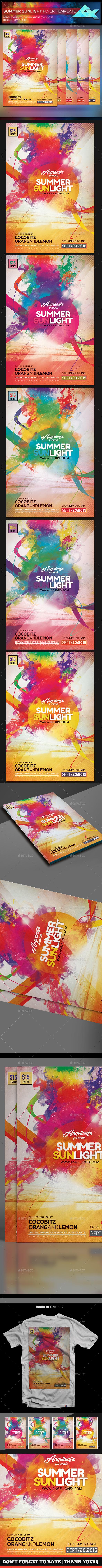 Summer Sun Light Flyer Template - Flyers Print Templates