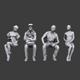 Lowpoly Sitting People Pack Vol.1 - 3DOcean Item for Sale