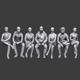 Lowpoly Sitting People Pack Vol. 2 - 3DOcean Item for Sale