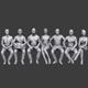 Lowpoly Sitting People Pack Vol. 3 - 3DOcean Item for Sale