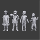 Lowpoly Children Pack - 3DOcean Item for Sale
