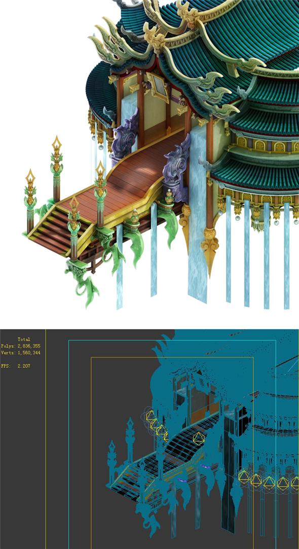 Game Model - Bi La City side hall - 3DOcean Item for Sale