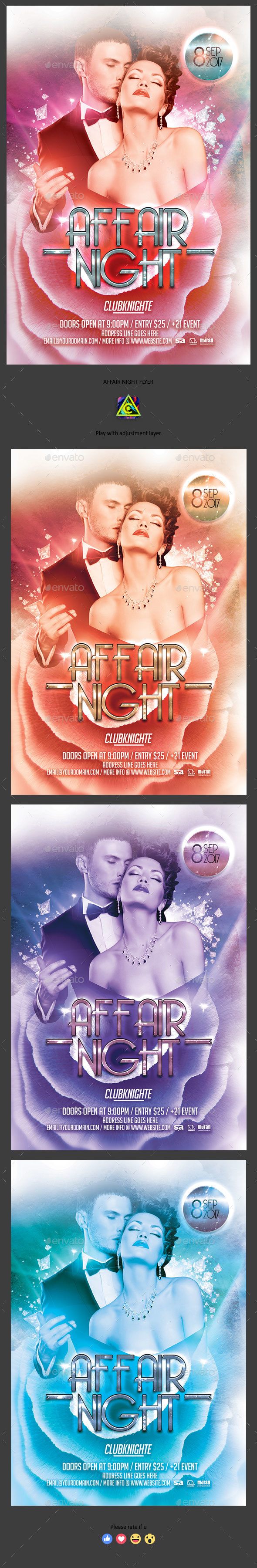 Affair Night Flyer - Clubs & Parties Events