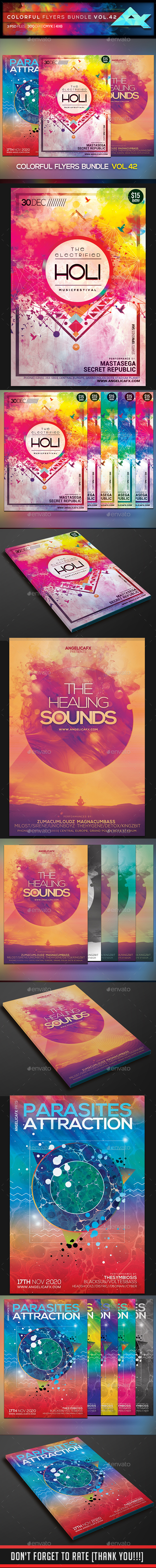 Colorful Flyers Bundle Vol. 42 - Events Flyers