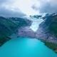 Svartisen Glacier in Norway Aerial View