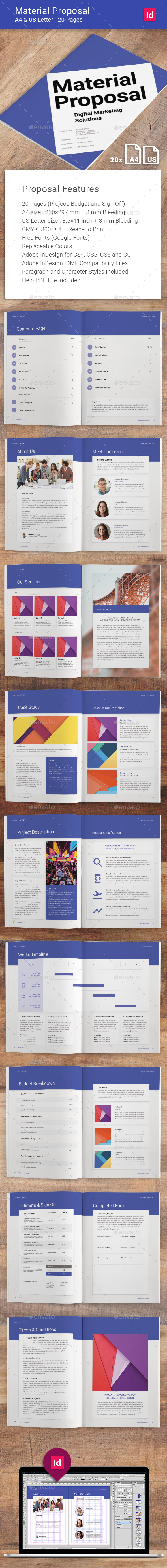 Material Proposal - Corporate Brochures