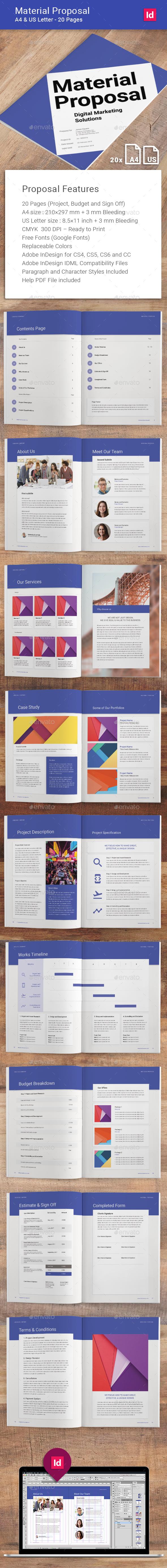 Material Proposal - Corporate Brochures