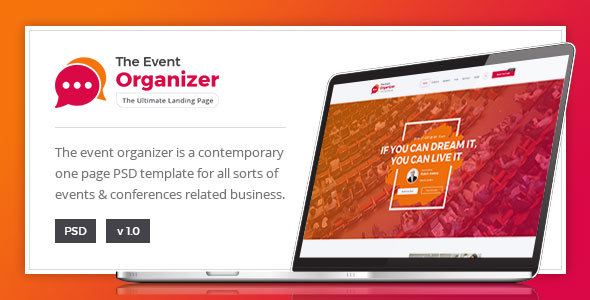 Event Organizer - For Conference and Event - Corporate PSD Templates