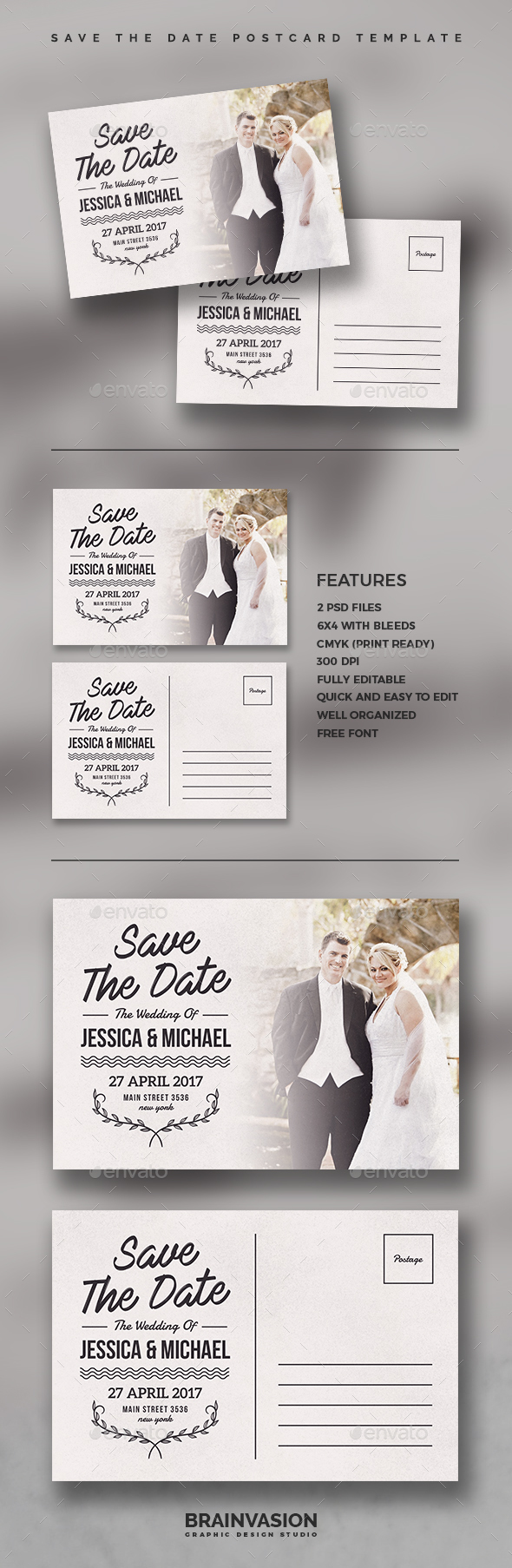 Save The Date Postcard Template - Weddings Cards & Invites