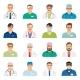 Medicine Physician Men Face Portrait Icons - GraphicRiver Item for Sale