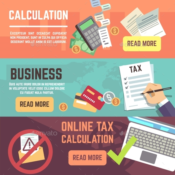 Online Tax Accountanting, Taxation and Business - Backgrounds Business