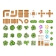 Top View Landscaping Architecture City Park Plan - GraphicRiver Item for Sale