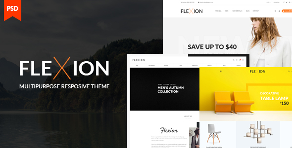 Flexion II - eCommerce & CMS PSD Templates - Fashion Retail