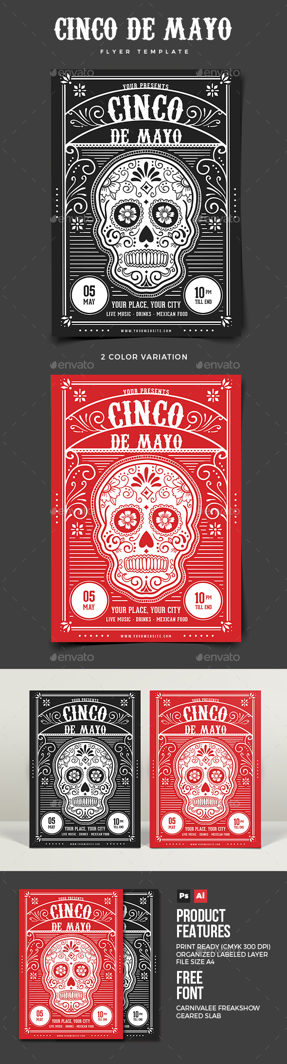 Cinco De Mayo Flyer 02 - Holidays Events